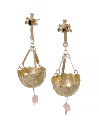 Botafumeiro Earrings - Gold & Tourmaline