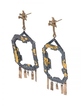 Extasis Earrings - Black & Gold