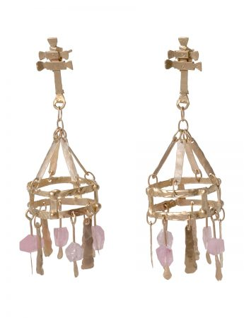 Perséfone Pink Tourmaline Earrings