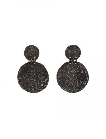 Large Disc Moonscape Earrings