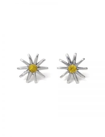 Small Radiant Star Earrings - Yellow Sapphire