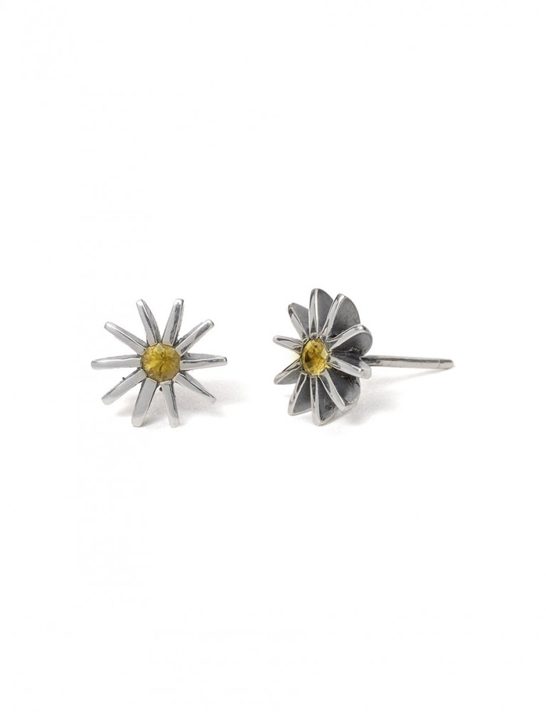 Small Radiant Star Earrings – Yellow Sapphire