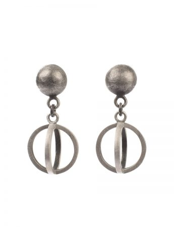 Light Source Earrings - Blackened Silver