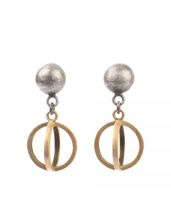 Light Source Earrings - Silver & Gold