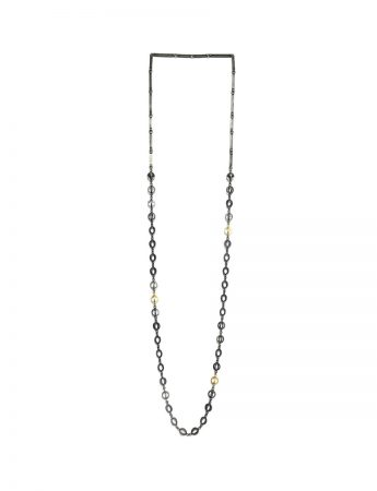 Lightsource Necklace - Black & Gold