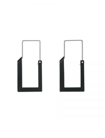 Long Constructivist Earrings - Black