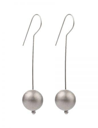 Moon Hook Earrings - Silver