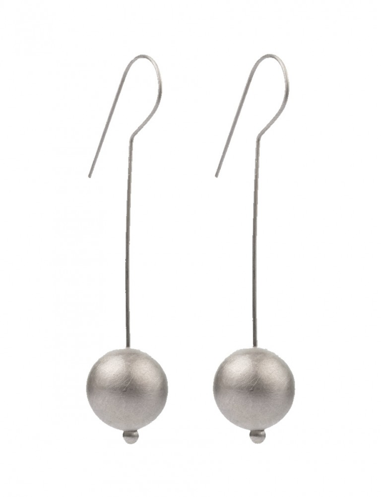 Moon Hook Earrings – Silver