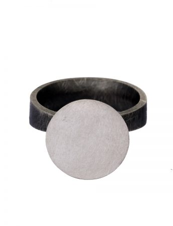 Moon Ring - Black & Silver