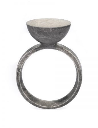 Moon Ring – Black & Silver