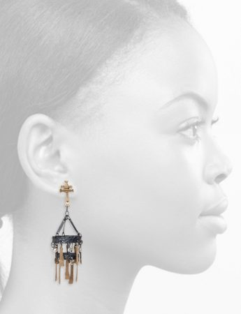 Bizancia Earrings – Gold, Silver & Pearl
