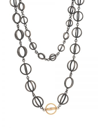 Somewhere in Between Necklace - Black & Gold