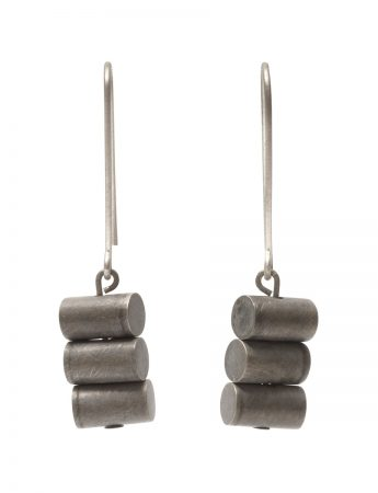 Sum of All Parts Earrings - Blackened Silver