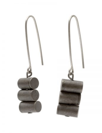 Sum of All Parts Earrings – Blackened Silver