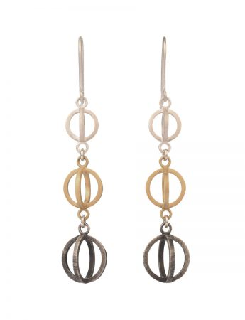 Trinity Earrings - Silver & Gold