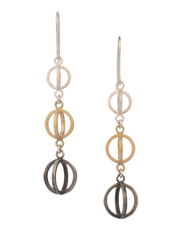 Trinity Earrings – Silver & Gold