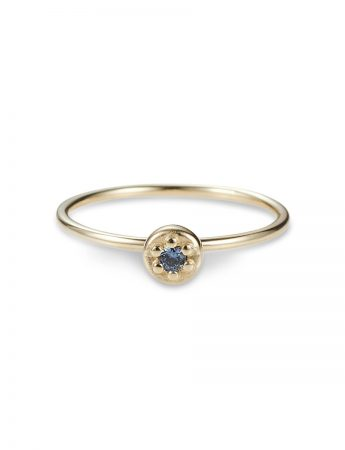 Poppy Rock Blue Sapphire Ring - Yellow Gold
