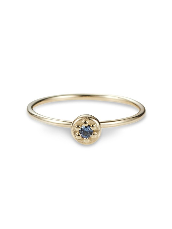 Poppy Rock Blue Sapphire Ring – Yellow Gold