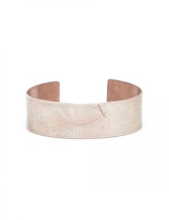 Feather Cuff - Silver & Rose Gold Plate