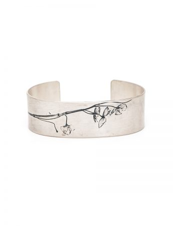 Japanese Plant Cuff - Silver