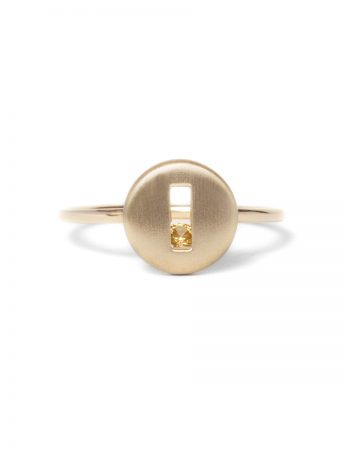 Rolling Rock Yellow Sapphire Ring - Matte Gold