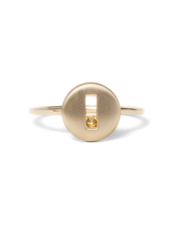 Rolling Rock Yellow Sapphire Ring – Matte Gold