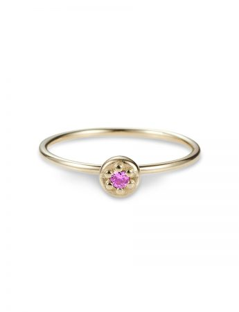 Poppy Rock Pink Sapphire Ring - Yellow Gold