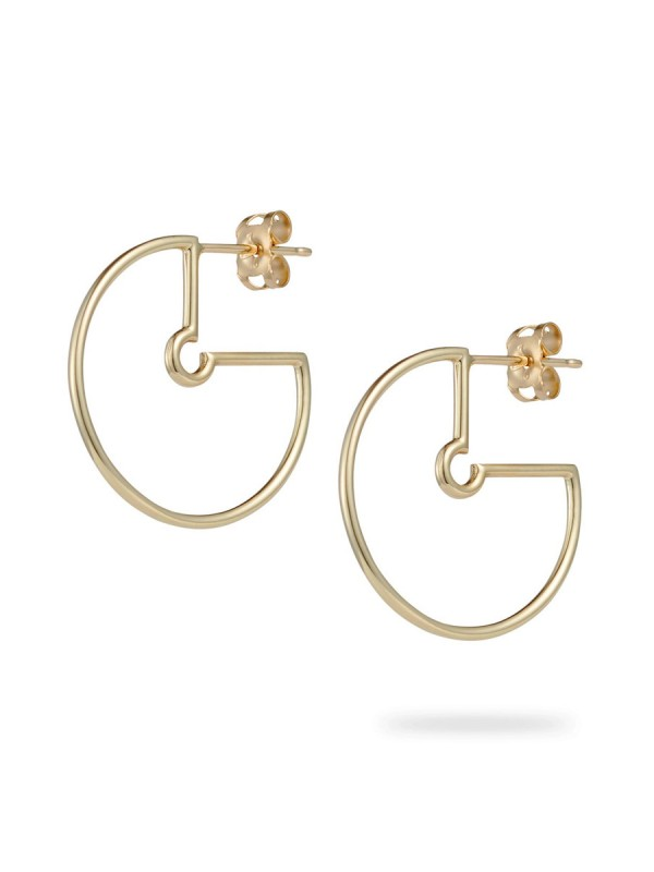 Small Naked Hoop Earrings – Matte Gold
