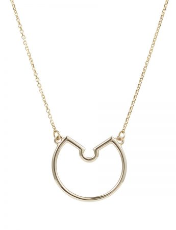 Small Naked Pendant Necklace - Yellow Gold