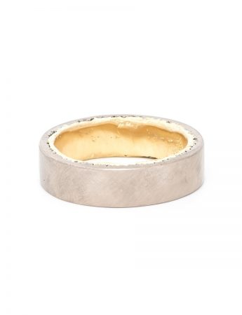 Twice Cast Wedding Ring - Yellow & White Gold