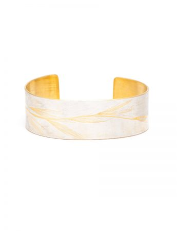 Wheat Cuff - Silver & Yellow Gold Plate