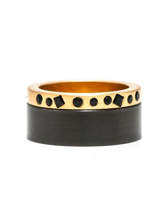 Beekeeper Ring - Black Diamonds