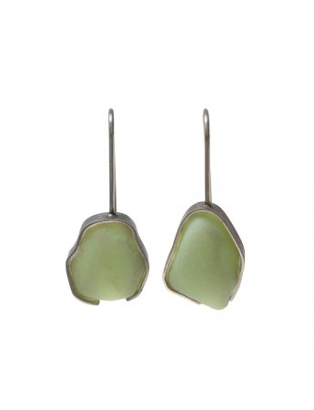 Beach Glass Earrings - Mint Milk