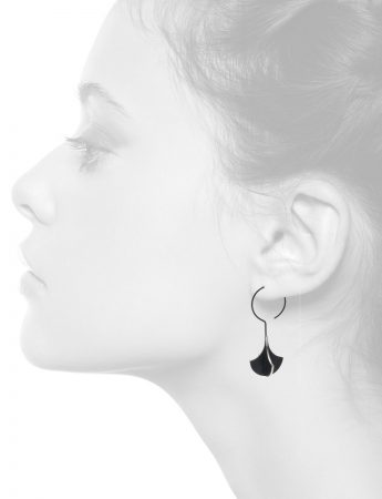 Black Chandelier X Long Hook Earrings