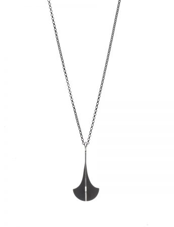 Black Chandelier X Pendant Necklace