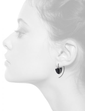 Black Shield X Short Hook Earrings