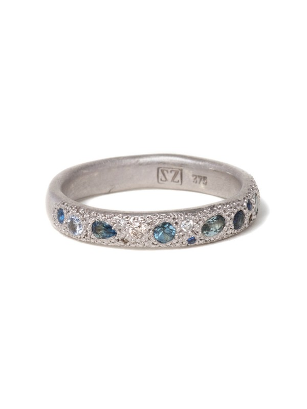 Blue Eternal Love Ring – White Gold
