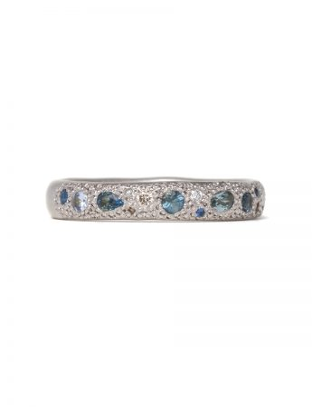 Blue Eternal Love Ring - White Gold
