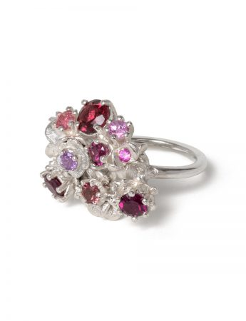 Floral Bonzai Ring - Blush Hot Pinks