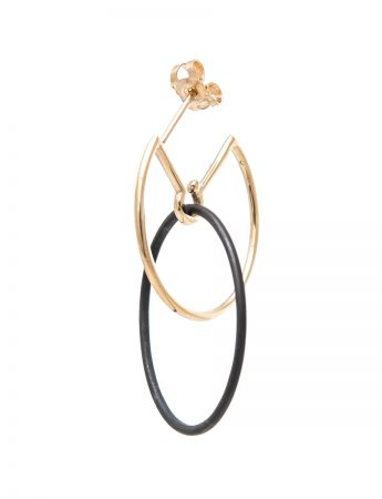 Circus Hoop Earrings - Black & Gold