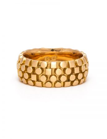 Code Writer Ring - Yellow Gold