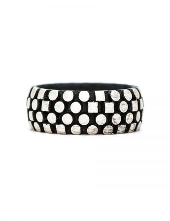 Code Writer Ring - Silver & Black
