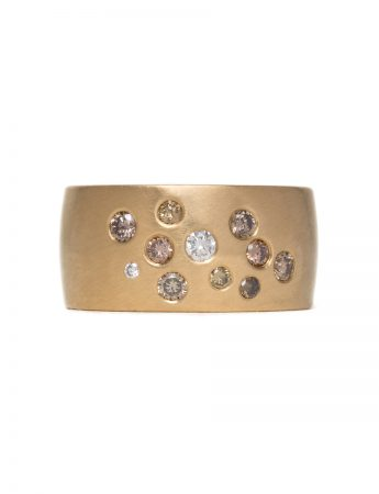 Dust Diamond Ring – Yellow Gold