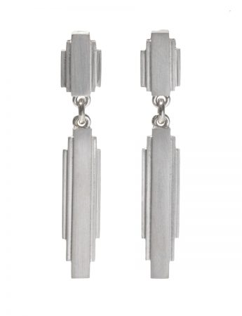 Empire State Drop Earrings - Silver