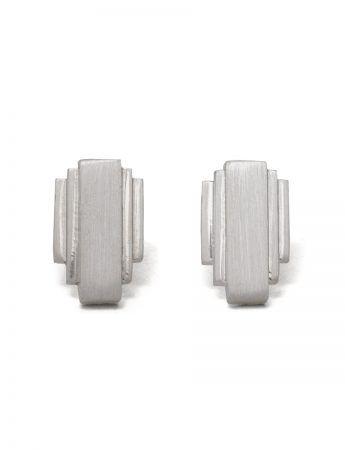 Empire State Stud Earrings - Silver