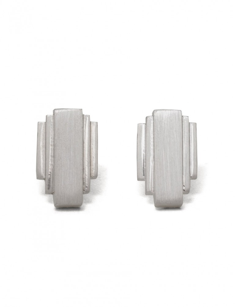 Empire State Stud Earrings – Silver