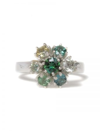 Forest Bloom Ring - Green