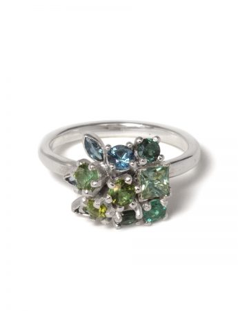 Giardinetti Floral Basket Ring - Forest Green