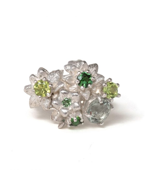 Floral Bonzai Ring – Forest Greens