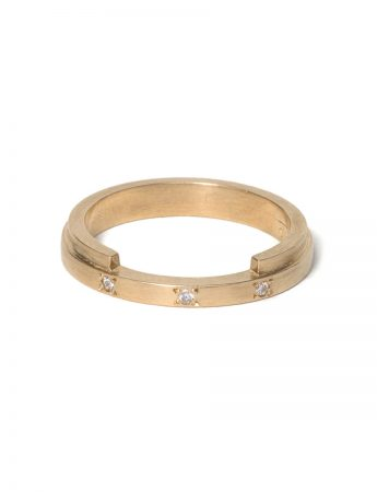 Interlock Ring - Diamonds